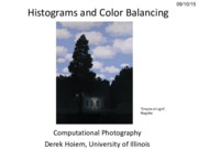 Lecture 06 - Histograms and Color Balancing - CP Fall 2015