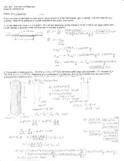 Exam 2 Soution Spring 2014 on Mechanics of Materials