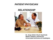 3. PATIENT PHYSICIAN RELATIONSHIP