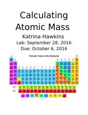 Calculating Atomic Mass Lab Report .docx