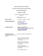 NUR4110Clinical  course Syllabus Revised Template Final 201220 -2edited