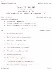 (www.entrance-exam.net)-PTU B.Tech Engineering Mathematics Sample Paper 2