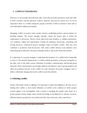 Project_Conflict Handling and Stress Management.docx