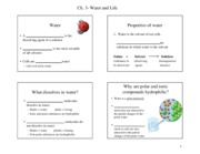 Ch 3- HANDOUT-Water and Life