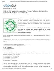 Civil Service Exam_ Know about the Test on Philippine Constitution, General Information, Current Eve
