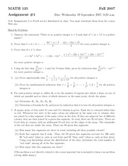 MATH135 - Assignment1 Solutions