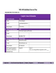 NRS-490 Individual Success Plan Final Copy.docx