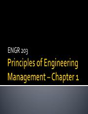 ENGR 203 Chapter 1 2015
