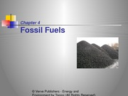 Chapter 4- Fossil Fuels