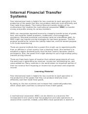 Internal Financial Transfer Systems.docx