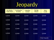 Jeopardy Exam II