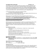 BB DOCUMENTATION GUIDELINES rev fall 2010(1)