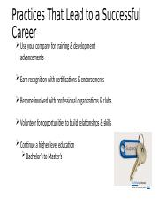 Practices that lead to a successful career.pptx