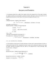 4_Buoyancy and floatation_tutorial solution.docx