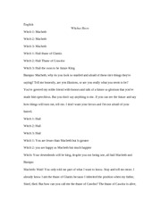 Witches Brew Script