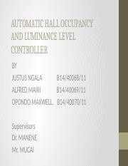 AUTOMATIC HALL LIGHTING AND LUMMNANCE LEVEL CONTROLLER 1.pptx