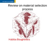 Review on material selection process
