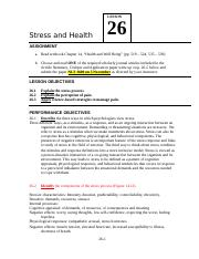 LSN 26 Stress and Health