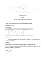 DSP Lab Manual Experiment no 7