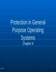CSC 607 Chapter 4 Protection in GP OS