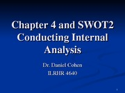 ILRHR4640 Lecture 2- Analyzing Internal Environments Ch. 4