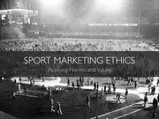SPTE 380 -- Sport Marketing Ethics
