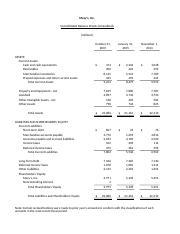 website statements - Balance Sheet