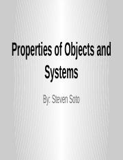 Properties of Objects and Systems