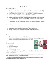Italian Unification Handout