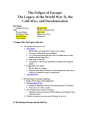 Hist. 152 Notes