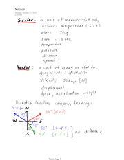 PHYS 11 Vector Directions Notes