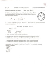 Unsigned vs Signed Integers Quiz 02