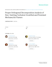 Proper Orthogonal Decomposition of Turbulent Stratified and Premixed Methane-Air Flames - Mustafa Ka