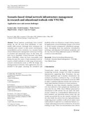 Scenario-based Virtual Network Infrastructure Management in Research and Educational Testbeds with V