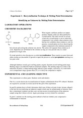 Exp2-Recrystallization_and_Melting_Point_Procedure-2012