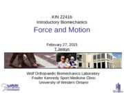 Lecture 17 Force and Motion 270215