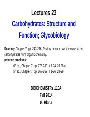 BCH 110A_23_Carbohydrates-Glycobiology_14