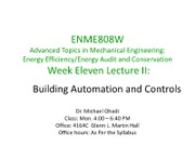 Week Eleven Lec II--Building Automation Systems-Apr 11-2011