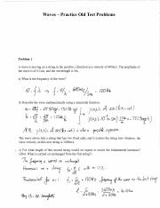 Practice Problems (Waves) Physics 13 Lehigh