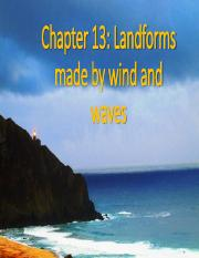 Landforms made by wind and waves