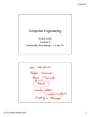 Lecture 4 Information Processing 13 Jan 14 annotated