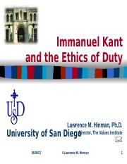Kant and Respect