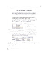 Class Problem - Bernoulli Equation, Friction in Vessels, and Friction Loss Equations