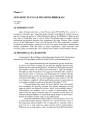 3 - Japanese Nuclear Weapons Program