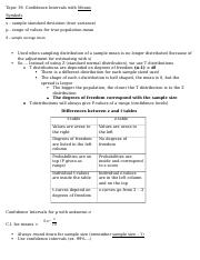 Intro to Stats - Final Exam Cheat Sheet