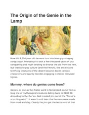 The Origin of the Genie in the Lamp