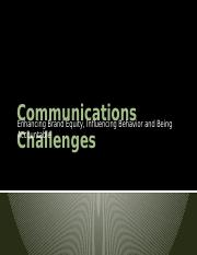 2- outline Communication Challenges