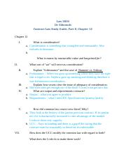 Law 3800, Contracts Study Guide,Part II, Chapter 12.docx