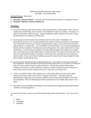 Individual Informational Ethics Report Directions