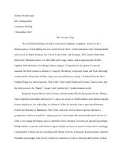 the greatest showman essay .docx